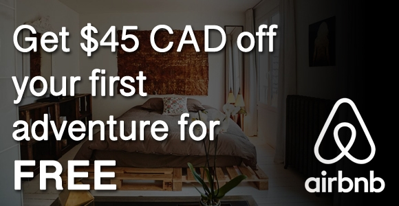 Get $45 CAD off your first adventure for FREE