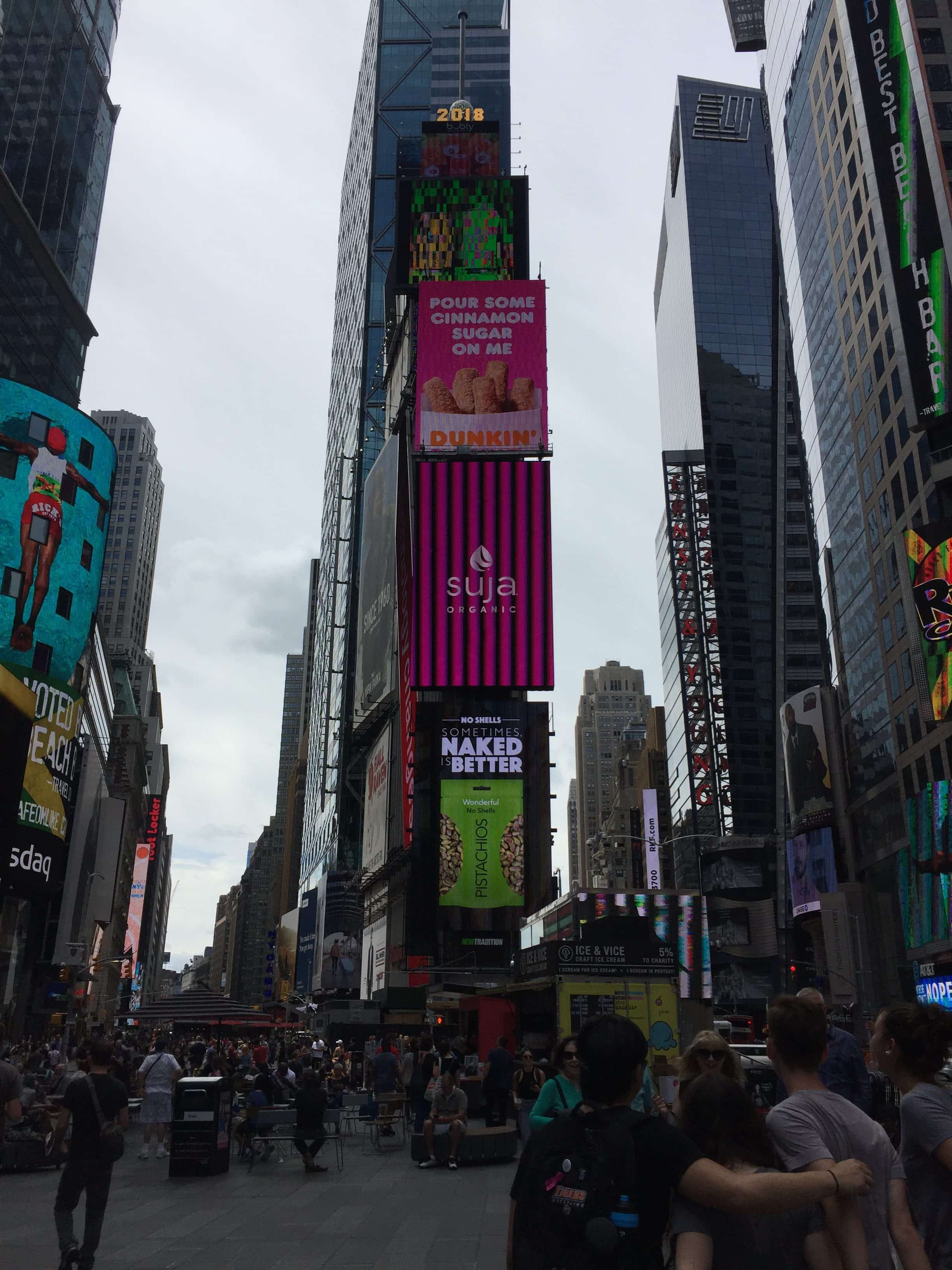 Times Square: get naked