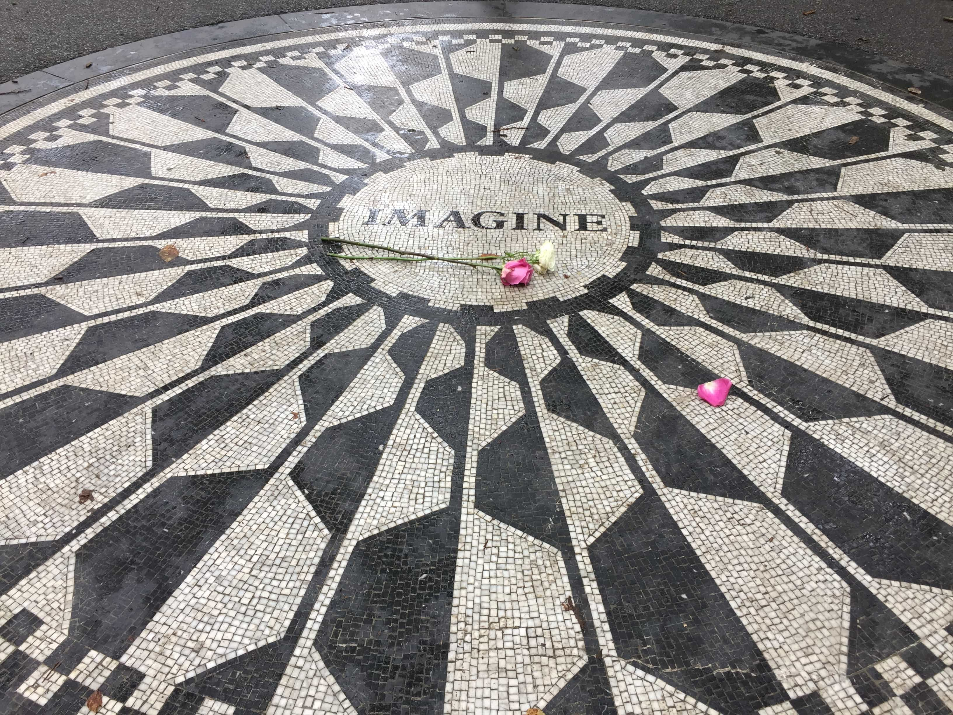 Imagine mosaic in Strawberry Fields, Central Park