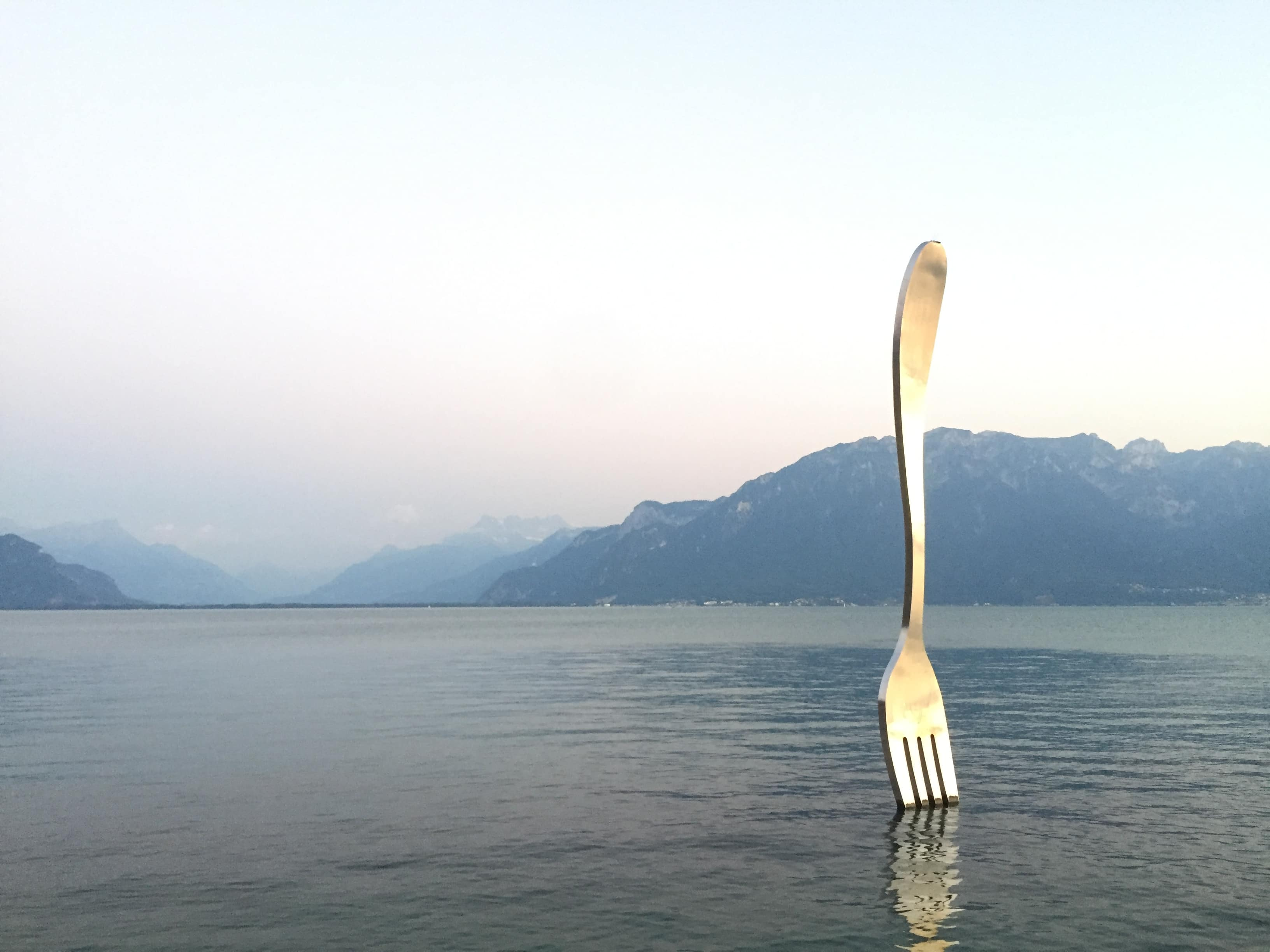 A massive fork in Vevey/Lac Leman
