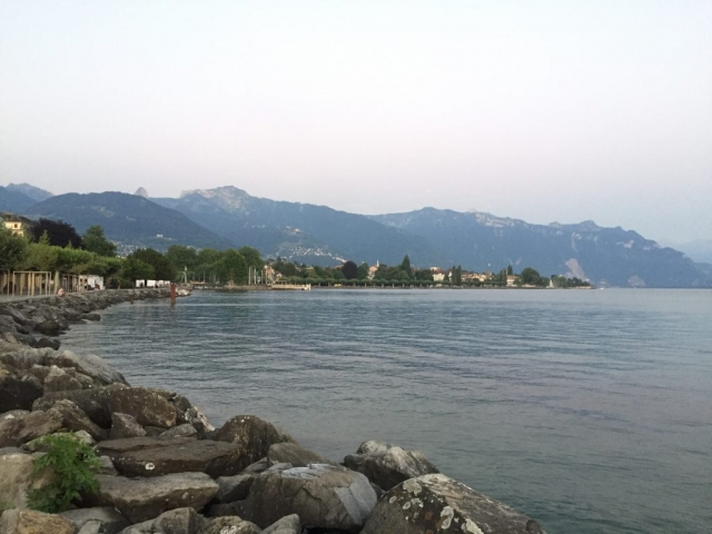 beside the lake in Vevey