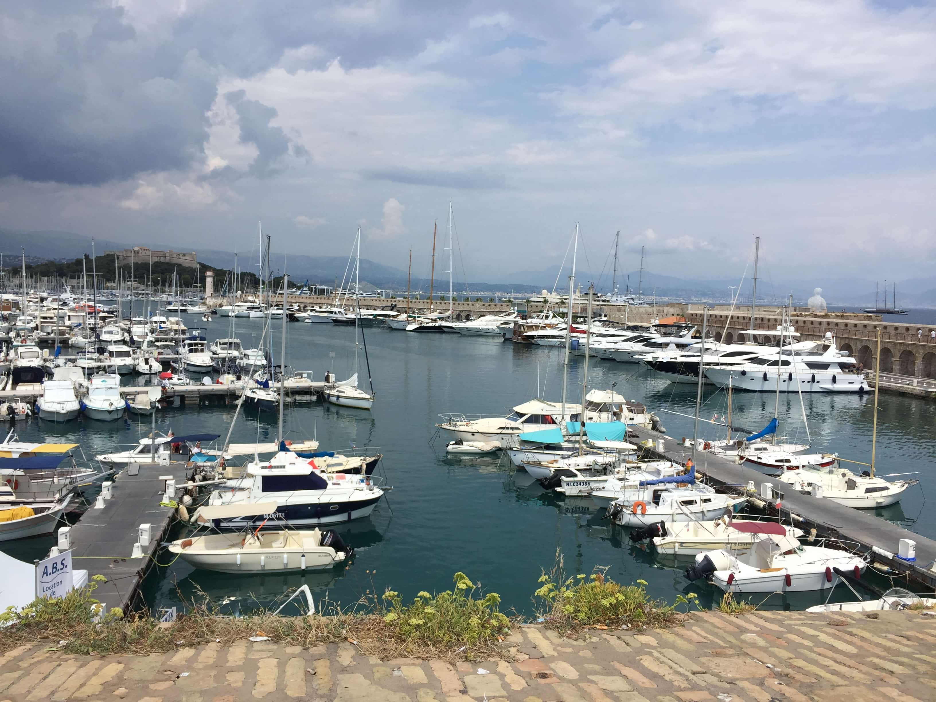 Boats in the harbour of Antibes