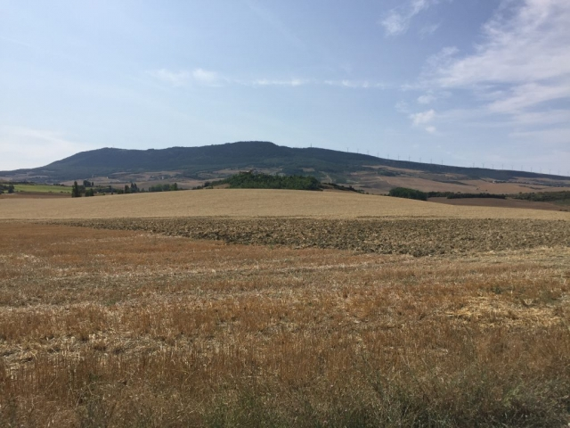 Leaving Pamplona and into the hills