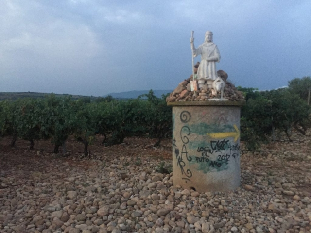 Statues in the vineyards