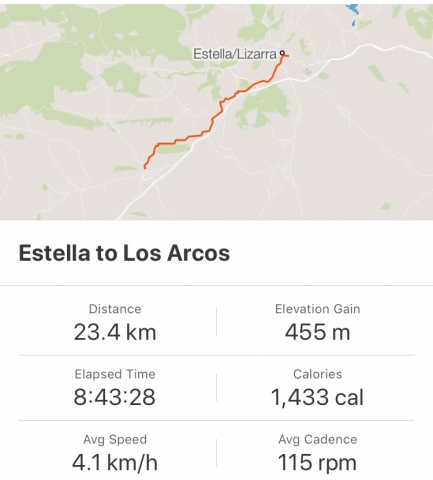 Strava: Estella to Los Arcos