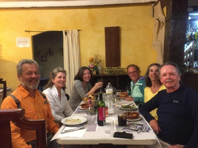 Dinner with Otto, Linda, Feena, David and Frances