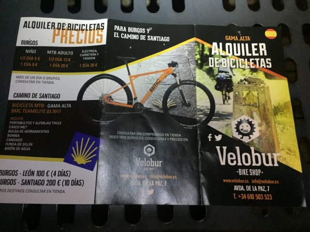 Velobur: bike rental Burgos