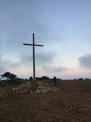 Cross at the top
