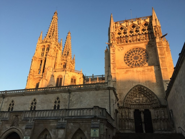 Burgos Cathedral with Sunrise