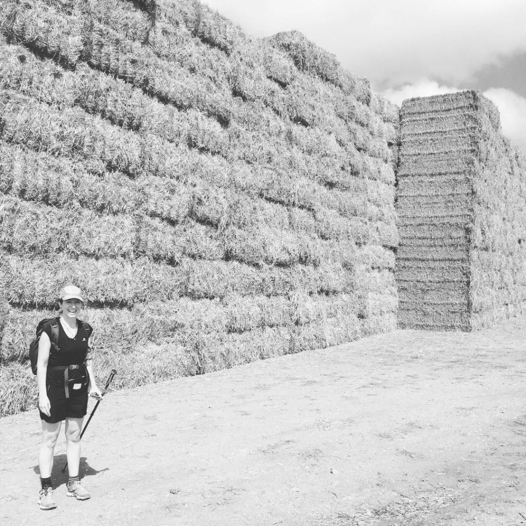 Incredible hay stacks and Feena!