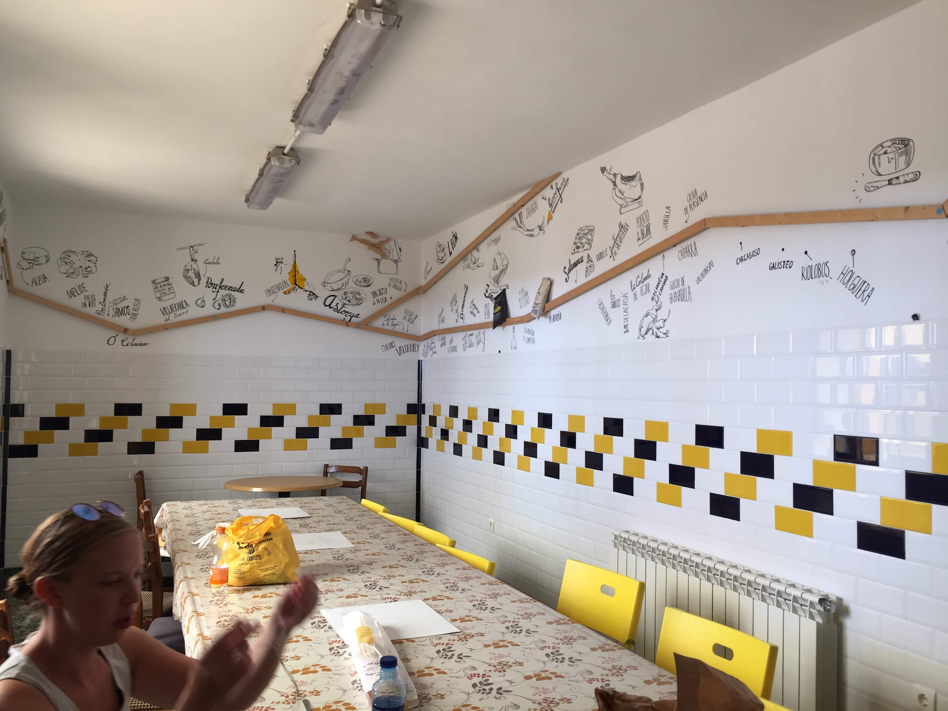 Cool designs on the wall for the Camino