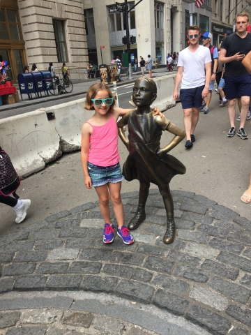 Vivi and Fearless Girl