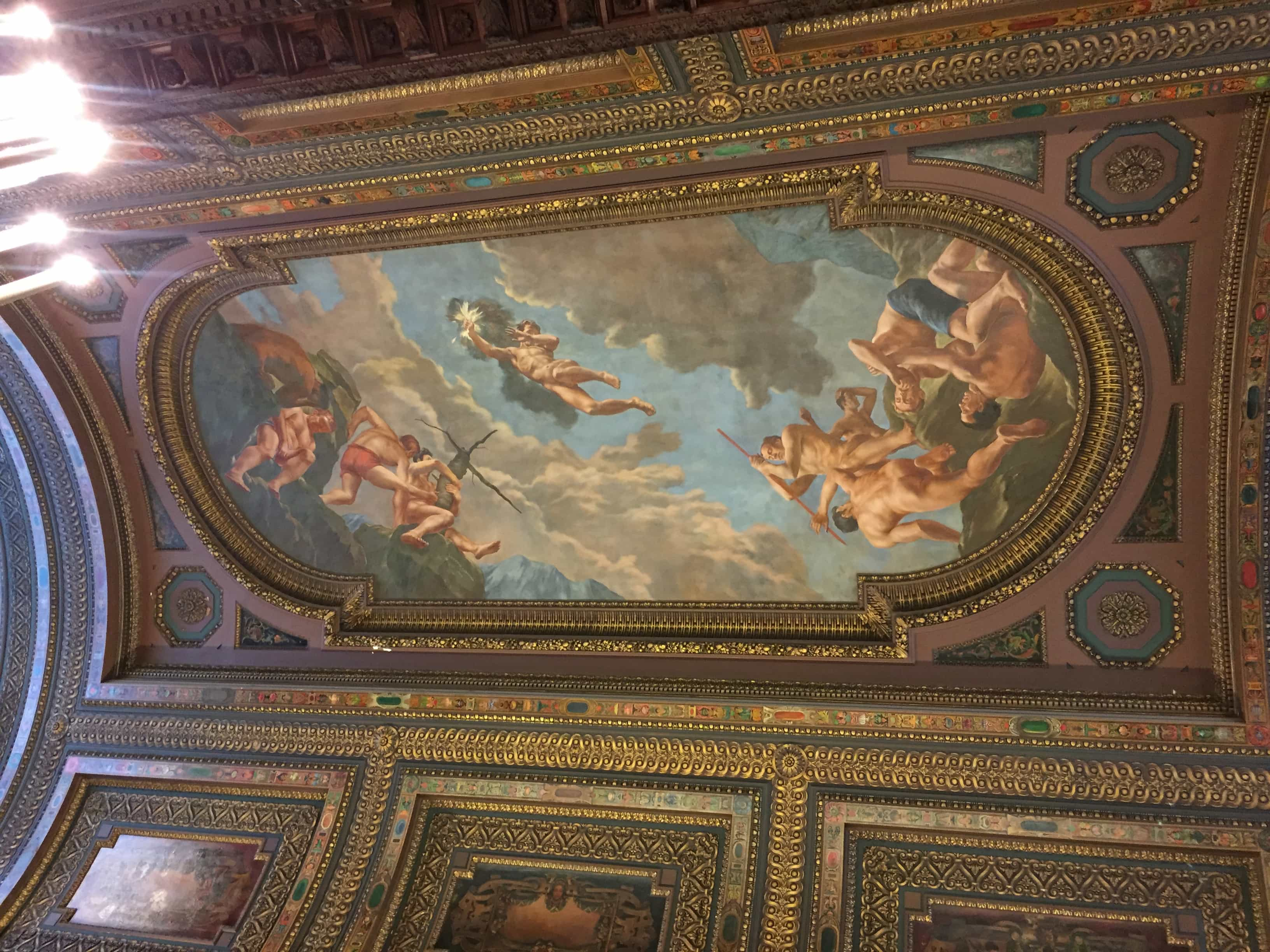 Ceiling in the New York Public Library
