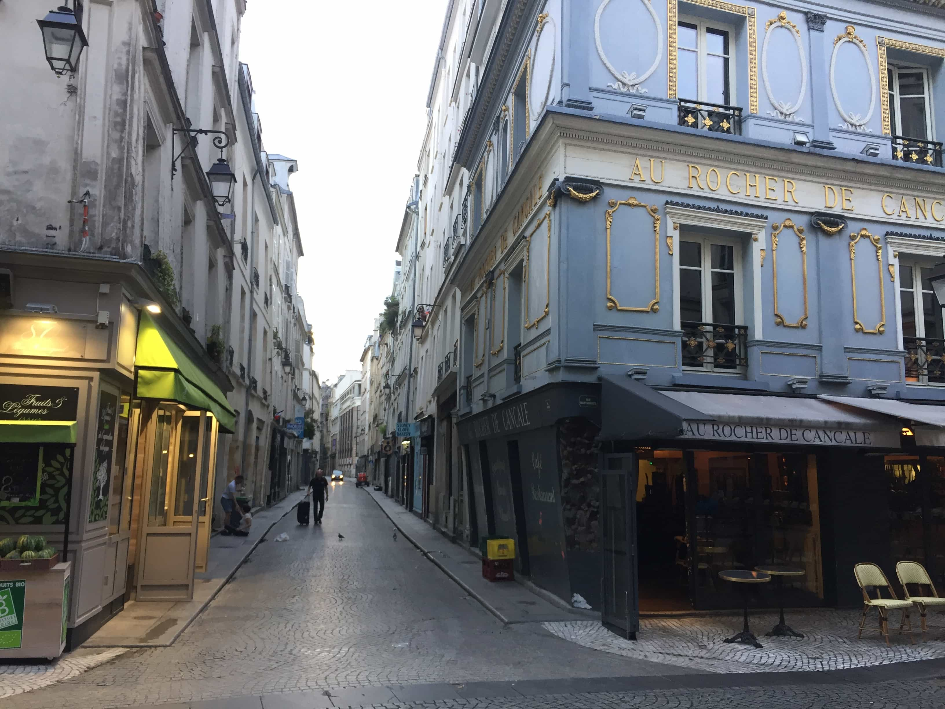 The streets of Paris near our airbnb