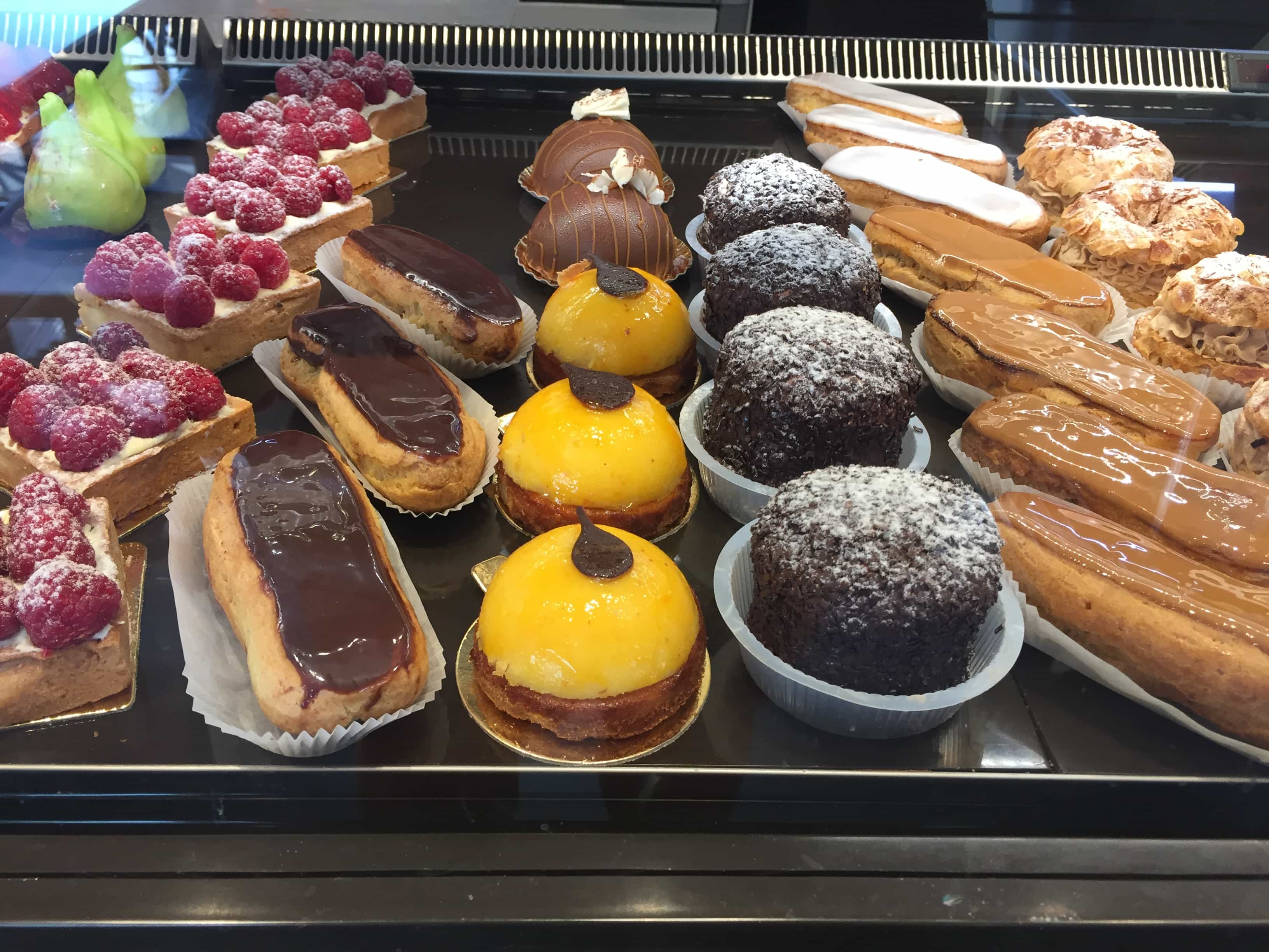 Delicious baked items at a boulangerie close to the studio