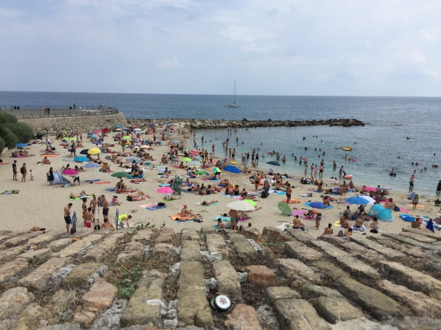 A beach in Antibes