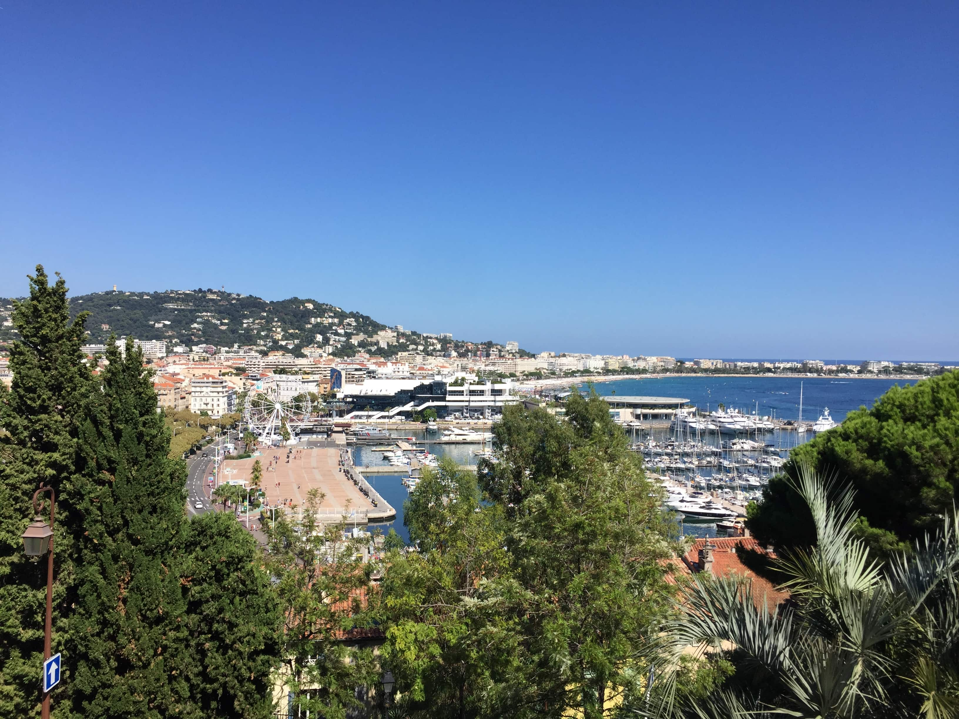 Views from the top of Cannes