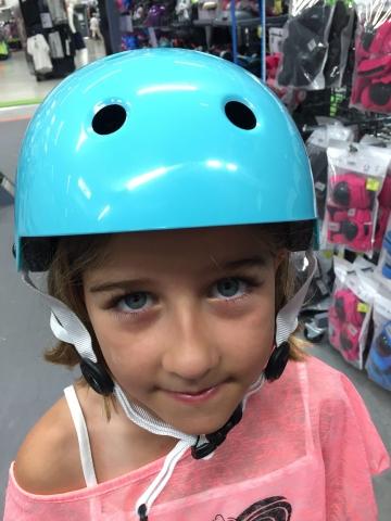 Vivi got a new helmet