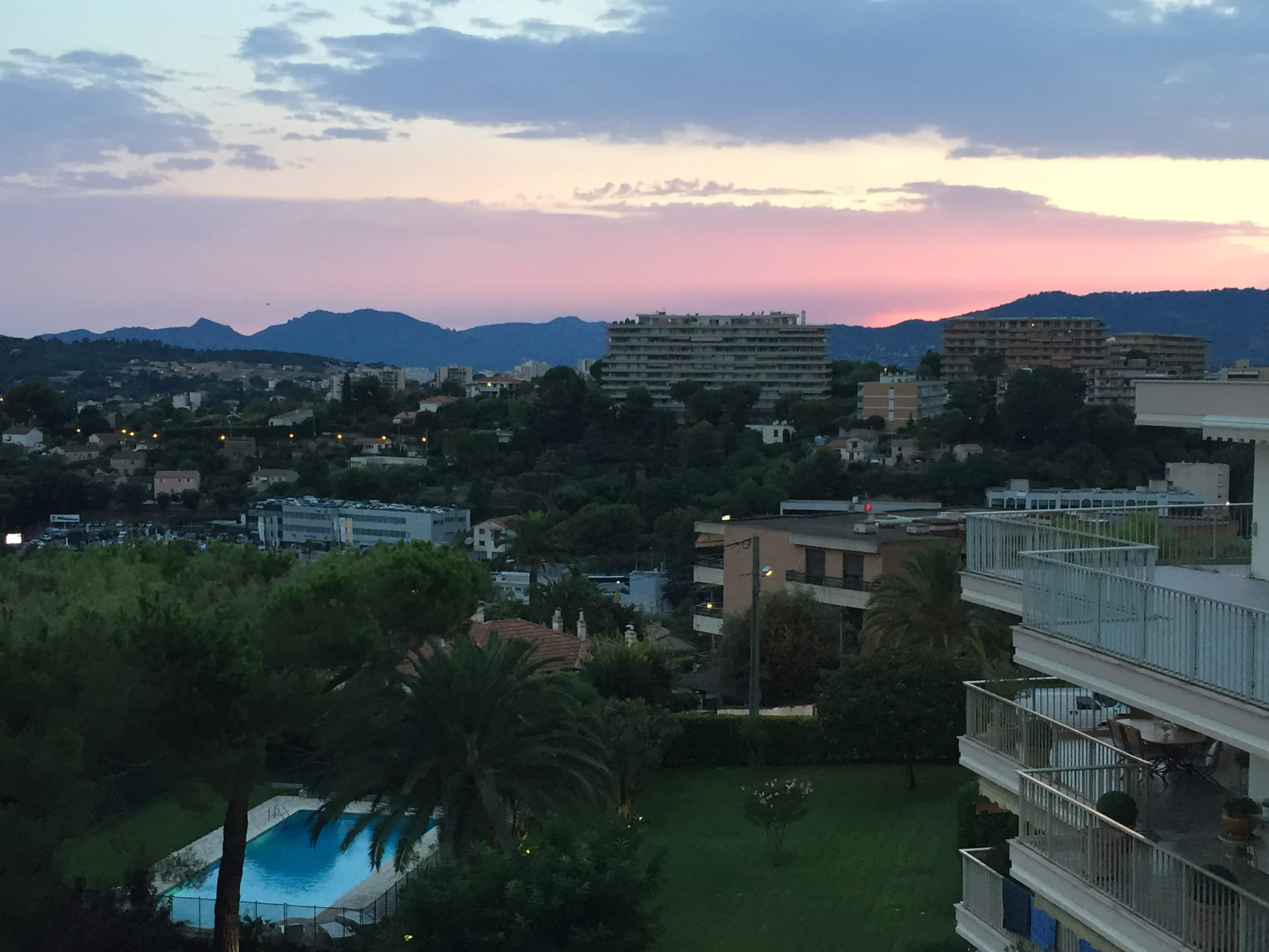Sunsets from Le Cannet
