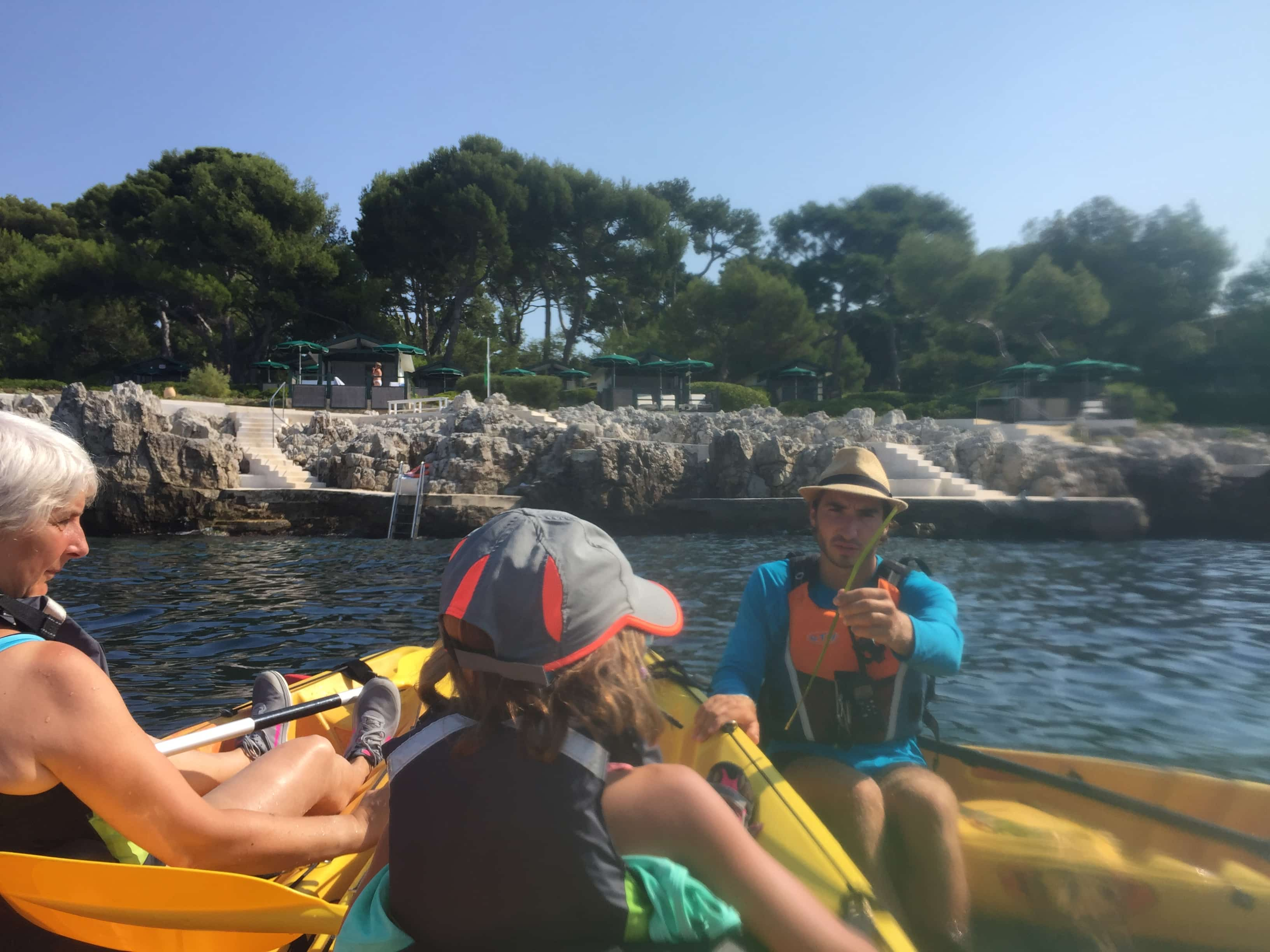 Kayaking in the Cape D'Antibes