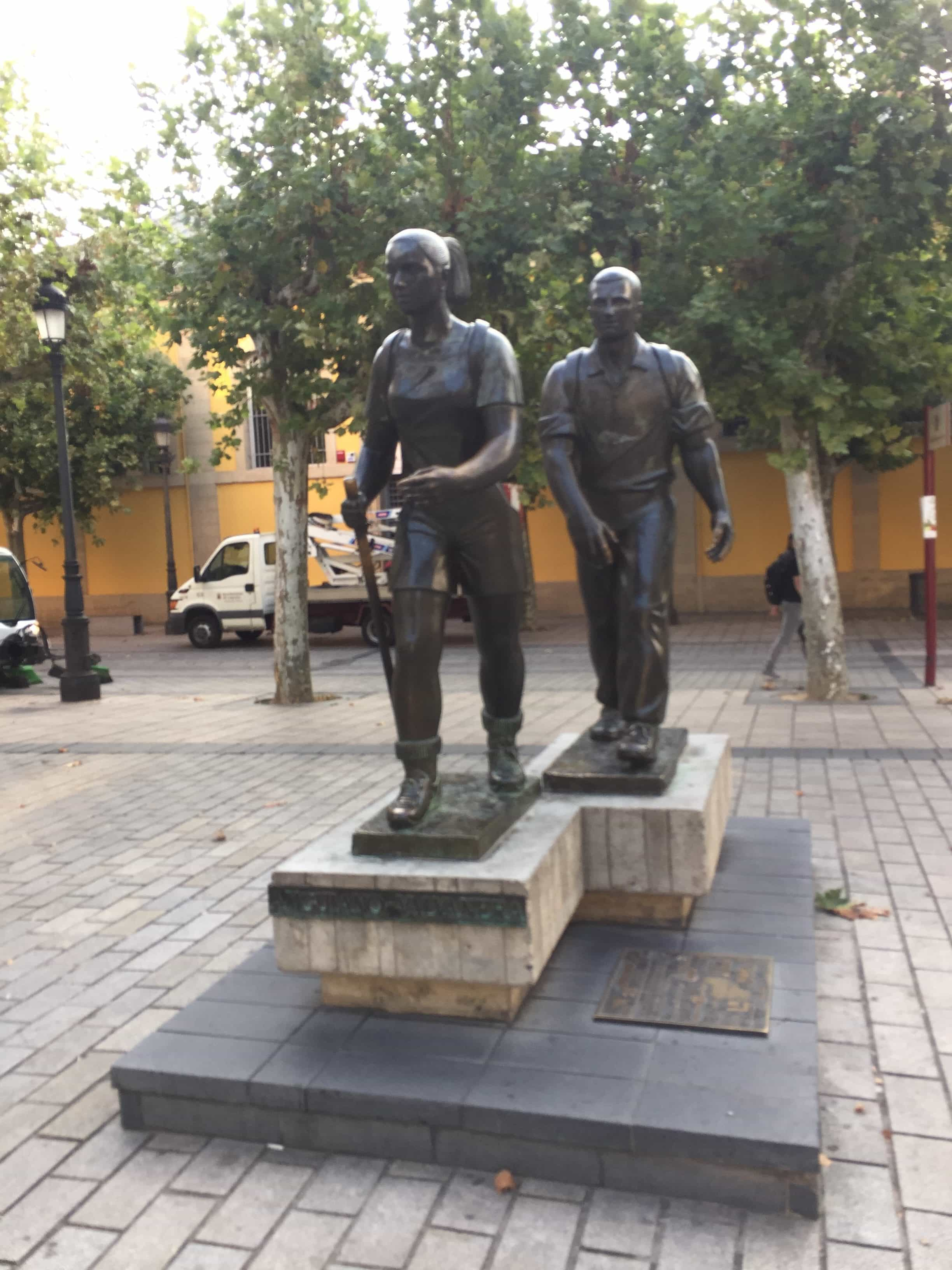 Statues in Logrono