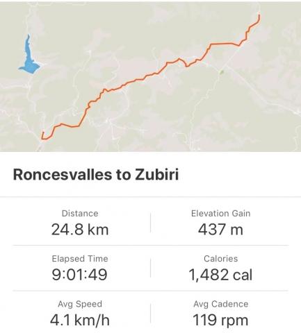 Strava: Roncesvalles to Zubiri