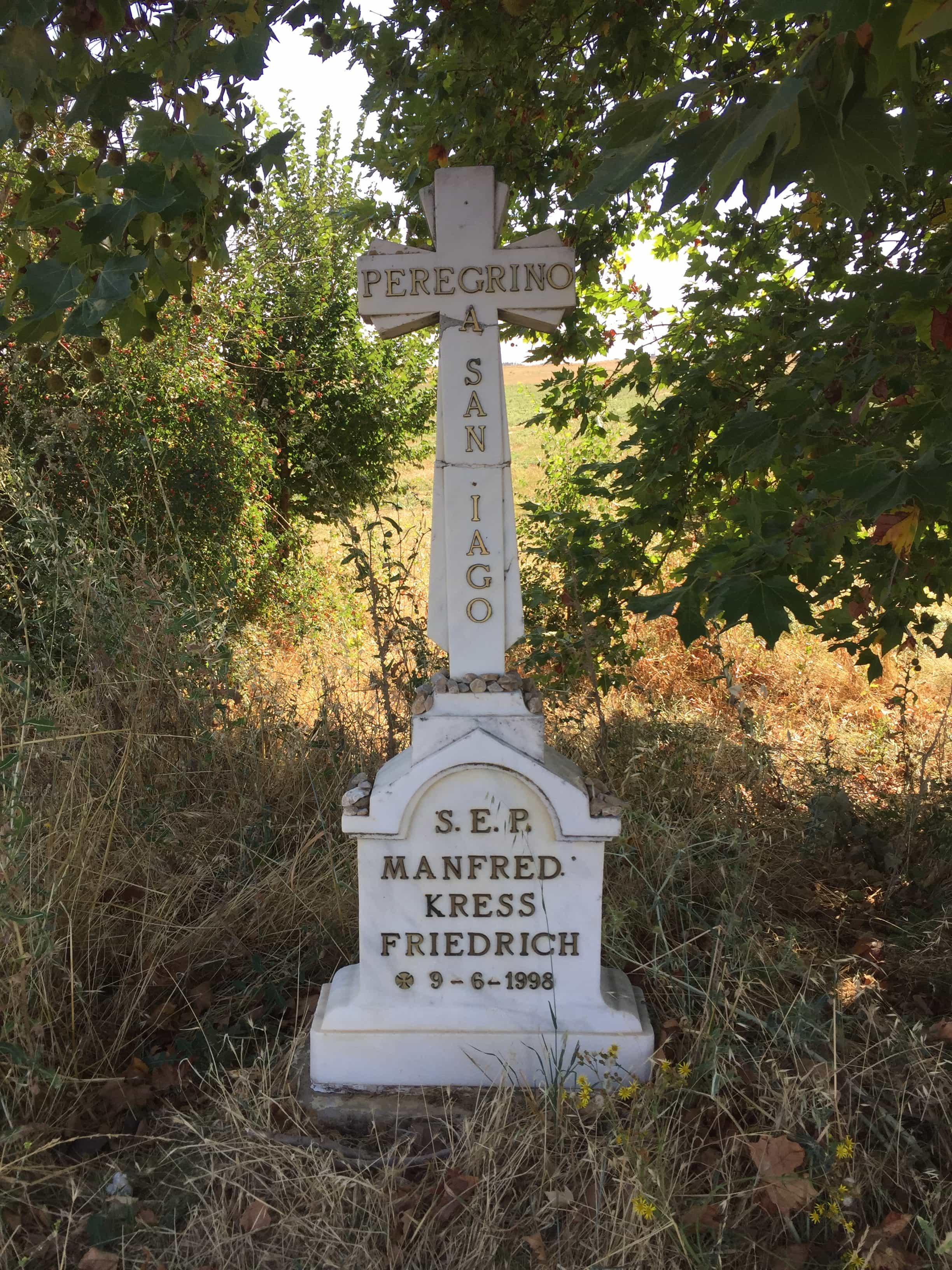 One of many graves along the way