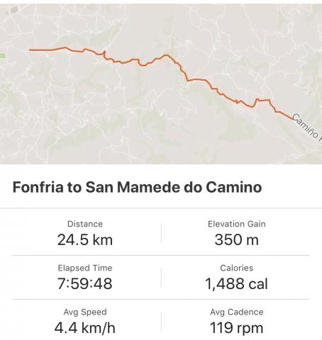 Strava: Fonfria to San Mamede de Camino