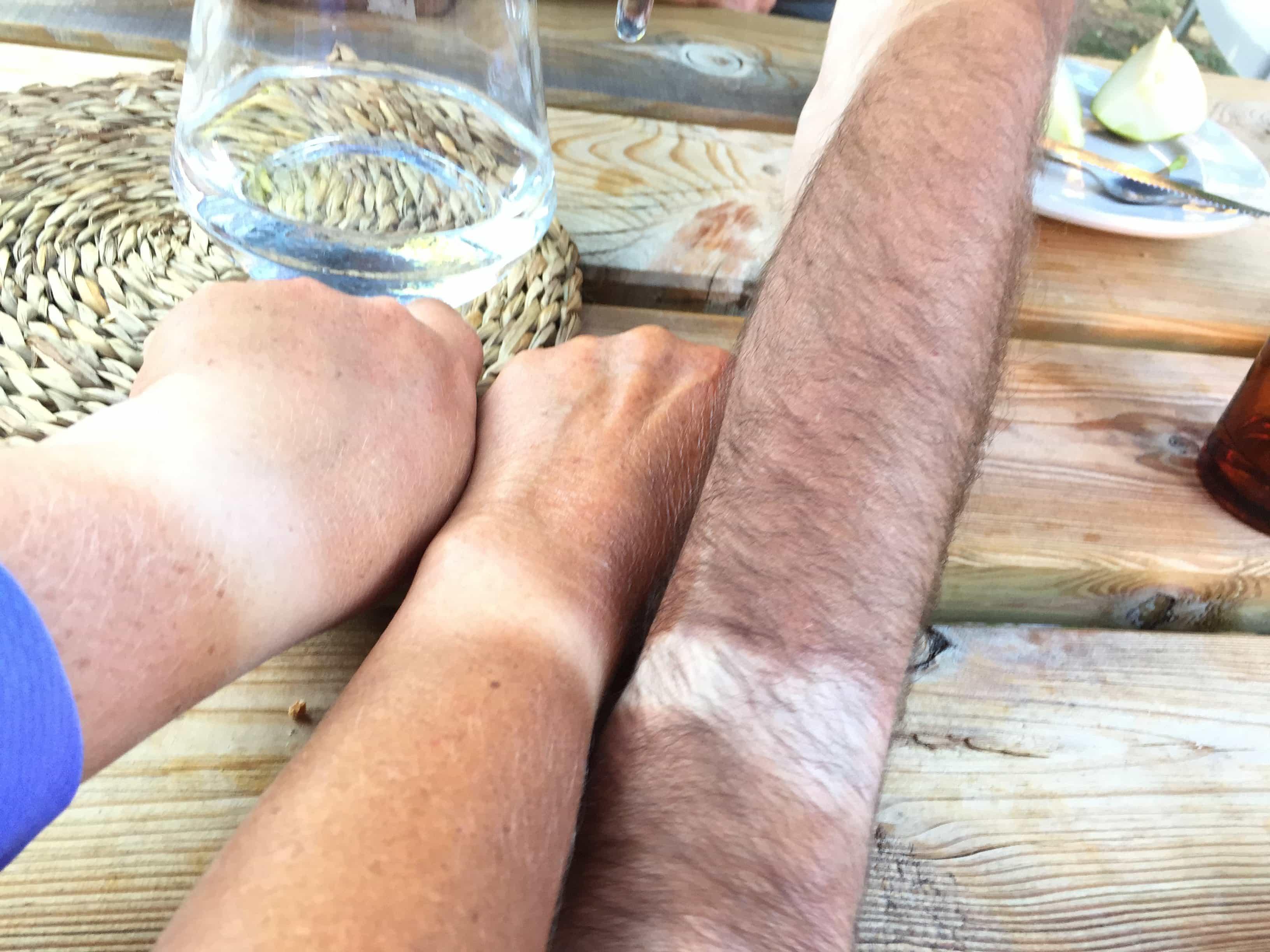 Comparing tan lines