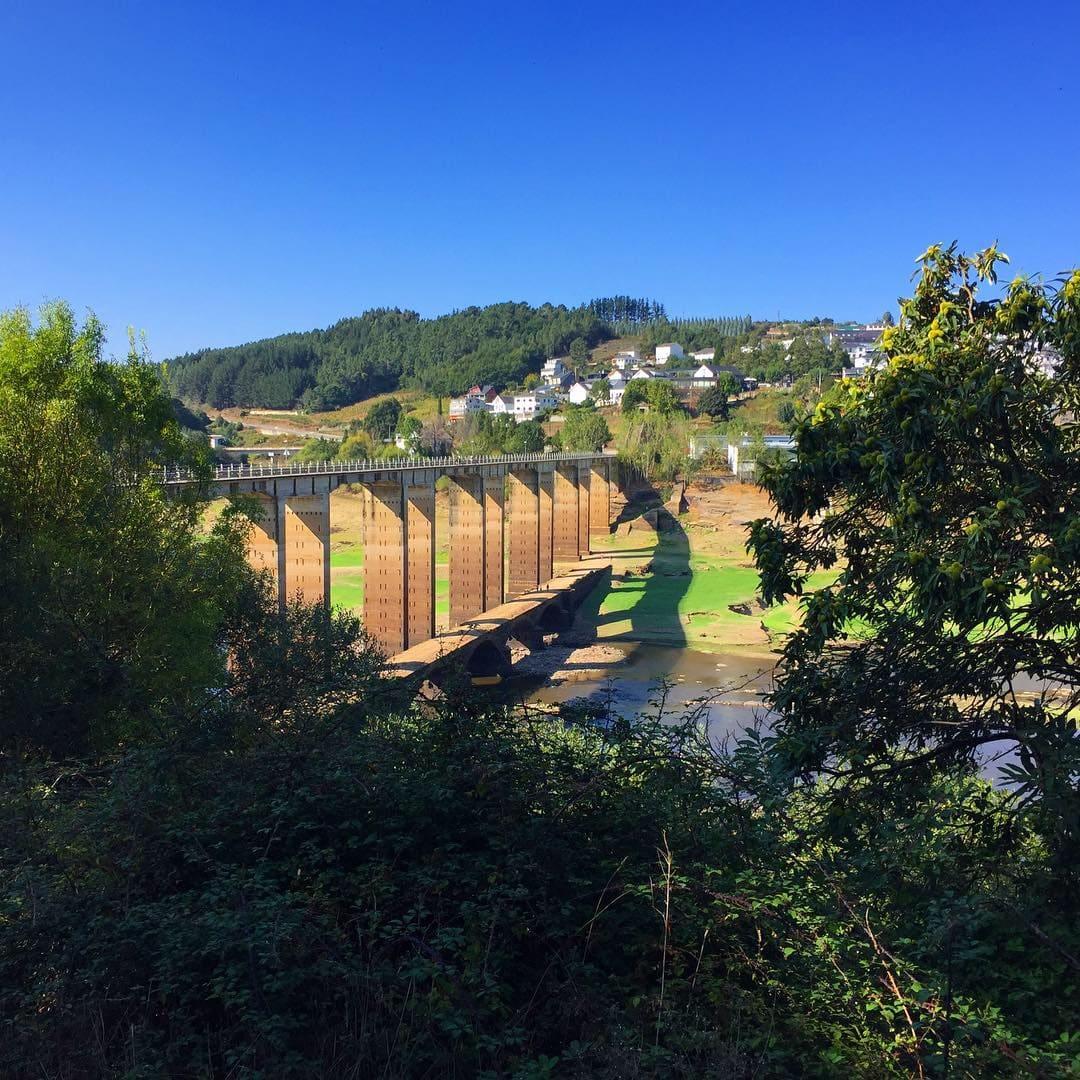The bridge into Portomarin