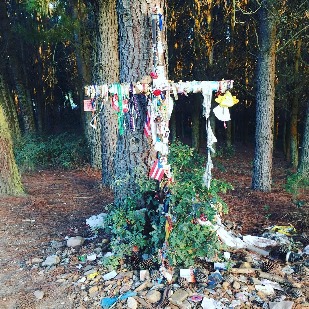 One of the many crosses we crossed
