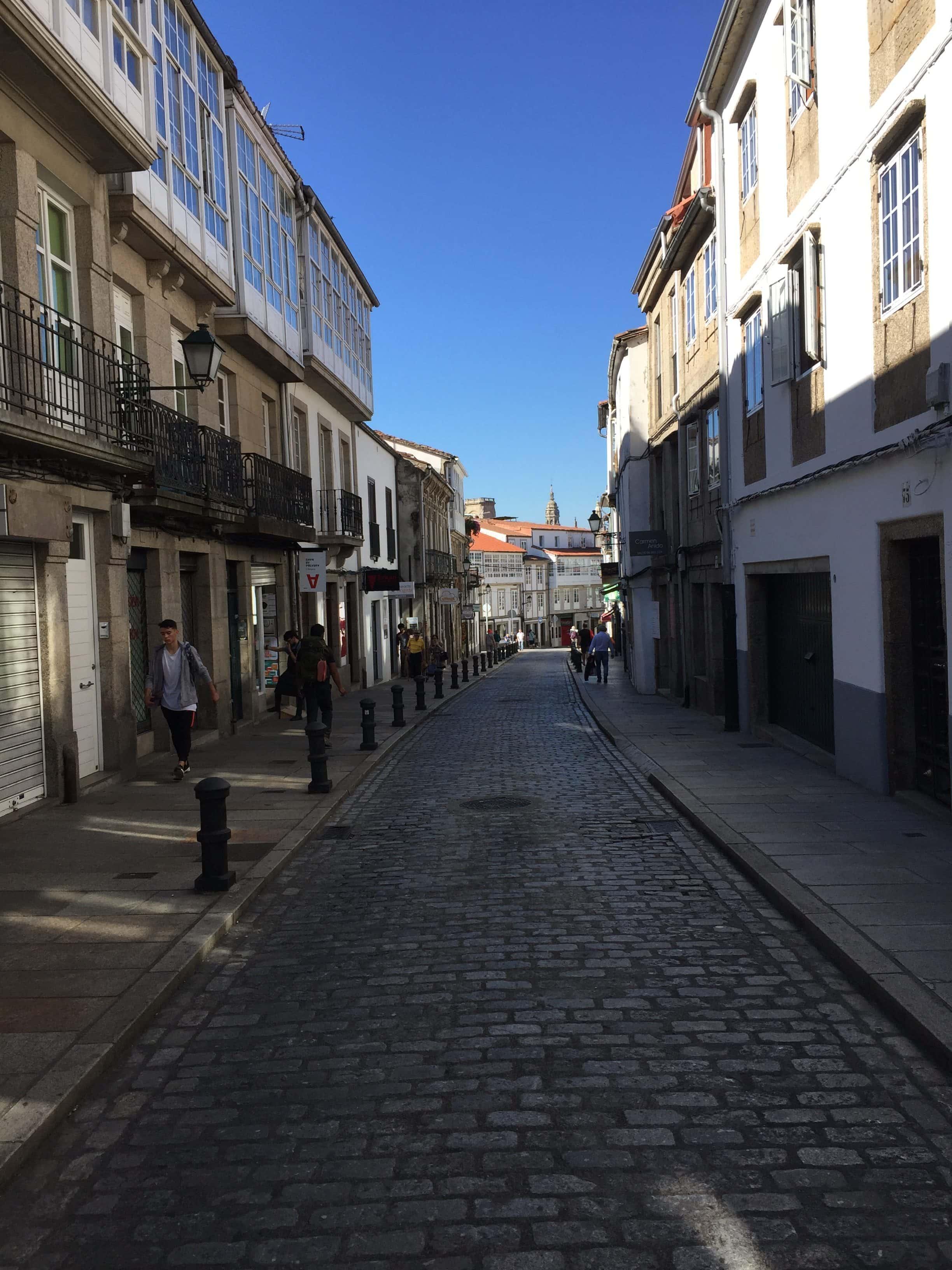 Walking into Santiago