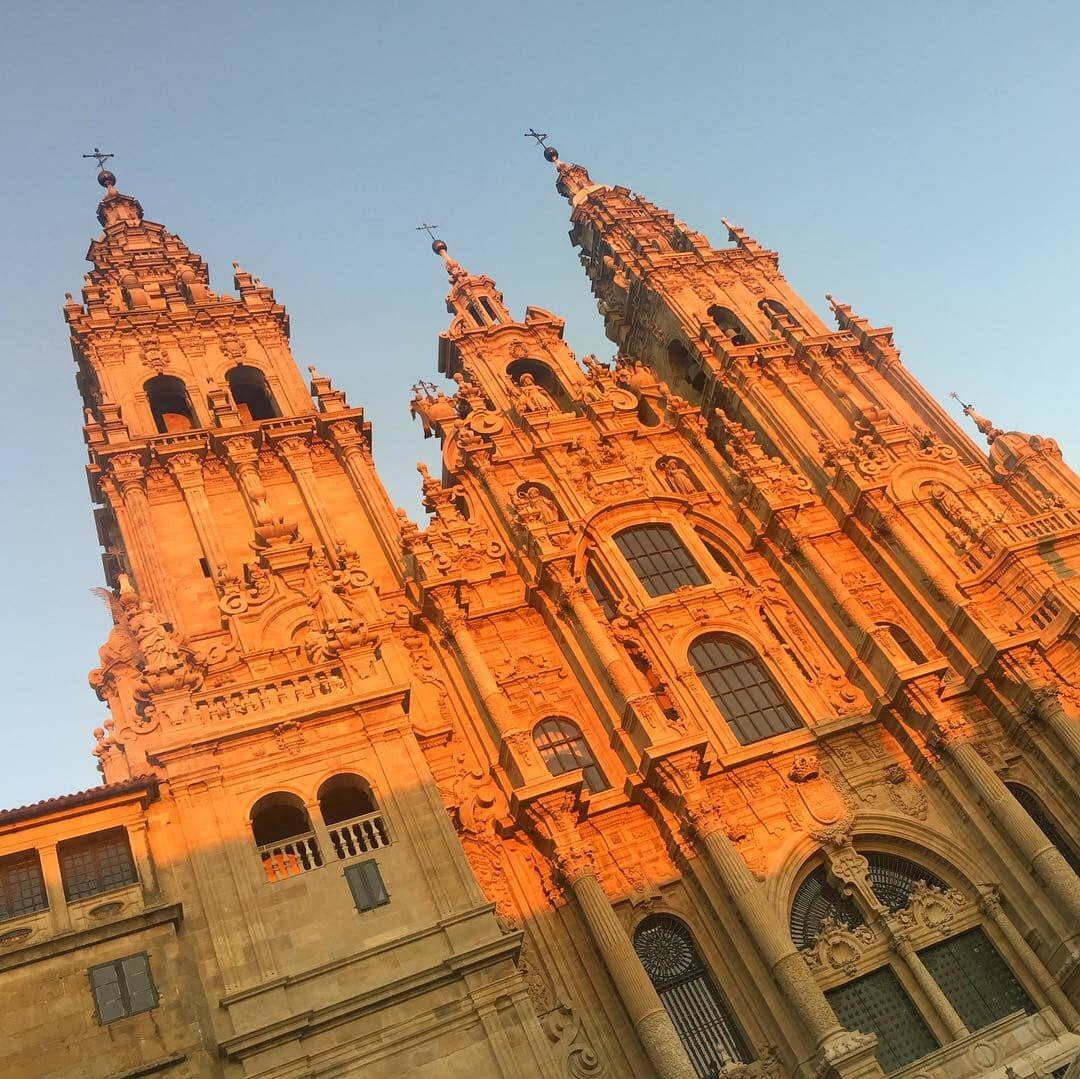 Sunset on the cathedral