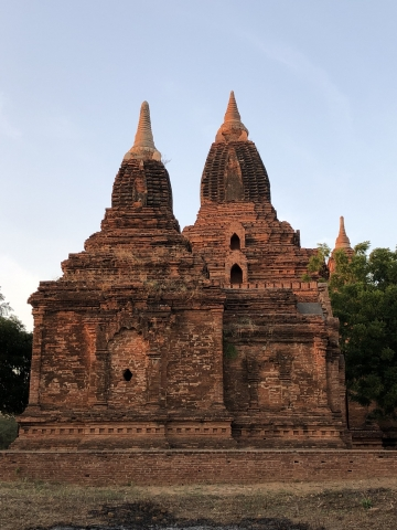 Temple by sunset
