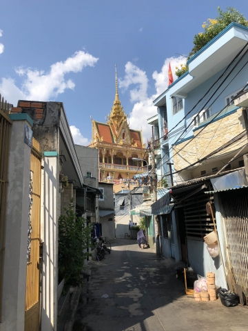 Beautiful temple while walking the streets