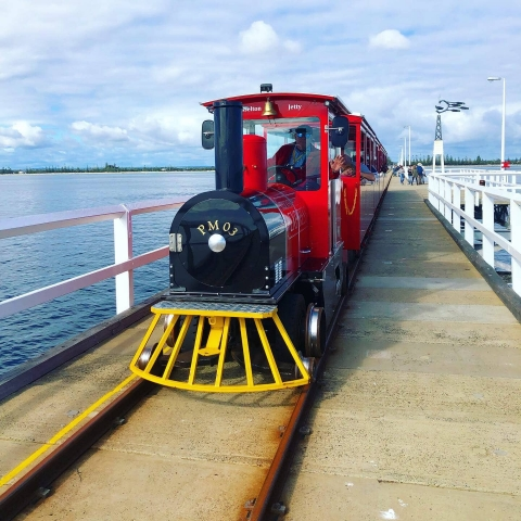 Train on the jetty