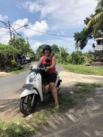 My first scooter ride!