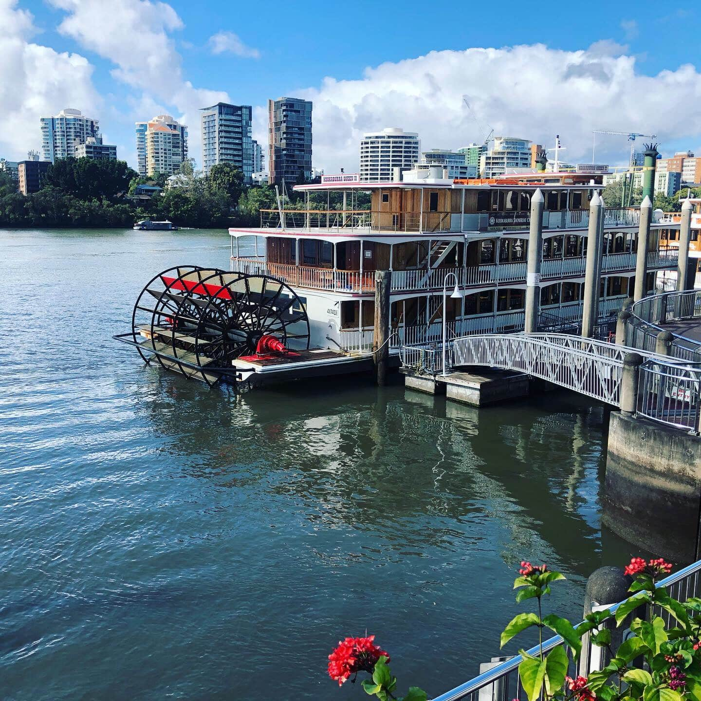 Paddlewheel boat in Brisbane harbour