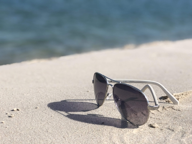 shades on the beach