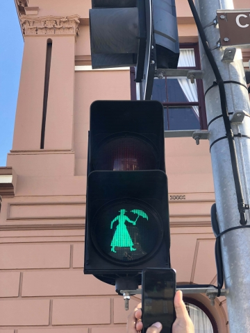 Mary Poppins walk signal