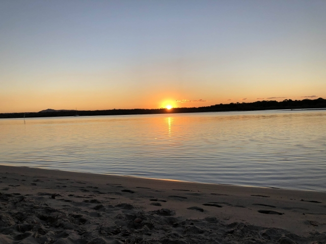 Sunset over Noosa